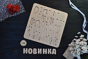 Алфавит (азбука) сортер из дерева. Русский алфавит
