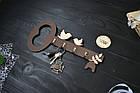 """Мини ключница из дерева """"Ключик"""" с птичками, фото 2"""