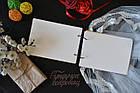 Альбом для пожеланий, книга пожеланий, гостевая книга на свадьбу из дерева с именной гравировкой, фото 2