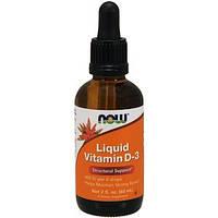 Витамин Д3 жидкий, Now Foods (400 МЕ / 60 мл)