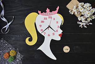 Часы настенные в детскую для девочки, яркие, цветные, (рабочие)! Принцесса, София (любое имя)