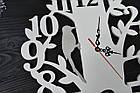 """Часы настенные """"Птичка на дереве"""", дятел, крупные цифры, фото 3"""