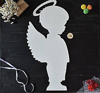 """Большой ангел из дерева """"мальчик"""" для оформления зала, фотозоны, день Валентина, свадебный декор, крещение"""