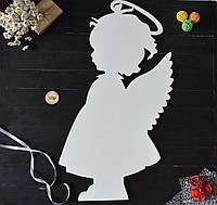 """Большой ангел из дерева """"девочка"""" для оформления зала, фотозоны, день Валентина, свадебный декор, крещение"""