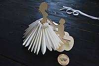 Декоративная салфетница из дерева, парень и девушка, салфетница из дерева, держатель салфеток