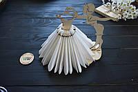 Декоративная салфетница из дерева,девушка с платьем, салфетница из дерева, держатель салфеток, украшение стола