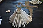 Декоративная салфетница из дерева,девушка с платьем, салфетница из дерева, держатель салфеток, украшение стола, фото 2