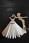 Декоративная салфетница из дерева,девушка с платьем, салфетница из дерева, держатель салфеток, украшение стола, фото 3