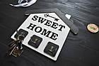 Ключница семейная в виде домика SWEET HOME, вешалка для ключей, ключниця, в прихожую, декор для дома, ключик, фото 2