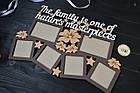 """Деревянная семейная фоторамка """"The family is..."""" Семья это... на 6 фото с цветочками, фото 2"""