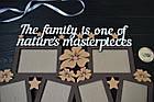 """Деревянная семейная фоторамка """"The family is..."""" Семья это... на 6 фото с цветочками, фото 3"""