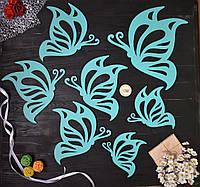 Деревянные бабочки на стену, декор на стену, декор детской комнаты, спальни, прихожей, метелики, в детскую