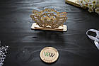 Декоративная салфетница из дерева, голуби, держатель для салфеток, коробка для салфеток, серветниця, фото 2