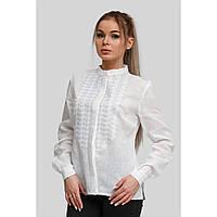 Женская белая вышитая блуза вышиванка White 5