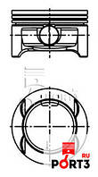 Поршня и кольца opel Astra 1.4 TWINPORT STD.King