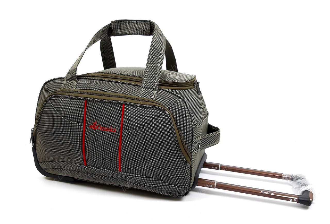 56ea539960bf ... Большая сумка на 3х колесах Omaska прочная L (80 л) Оливковая (64* ...