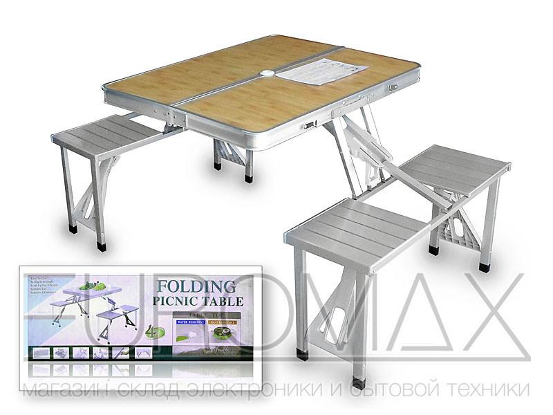 Стол складной 4 места 1300х850х680 TABLE-002