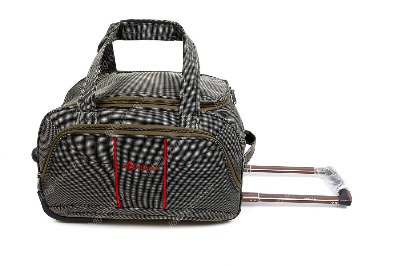 ab2fce49eecc Средняя сумка на 3х колесах Omaska прочная L (60 л) Оливковая (57*33 ...