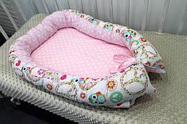 Кокон - гнездышко для новорожденного (двухсторонее) внутрений размер 70х45см