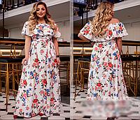 Яркое платье макси, с 42-64 размер, фото 1