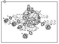 Крепления клапана управления и адаптеров HDS30/1 Е2-3-1-OP3