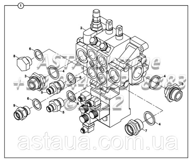 Крепления клапана управления и адаптеров HDS30/2 Е2-3-1-ОП4