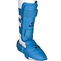 Защита для ног Budo-Nord WKF Approved Blue L, КОД: 100022