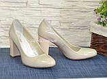 """Женские лаковые классические туфли на каблуке. ТМ """"Maestro"""", фото 4"""