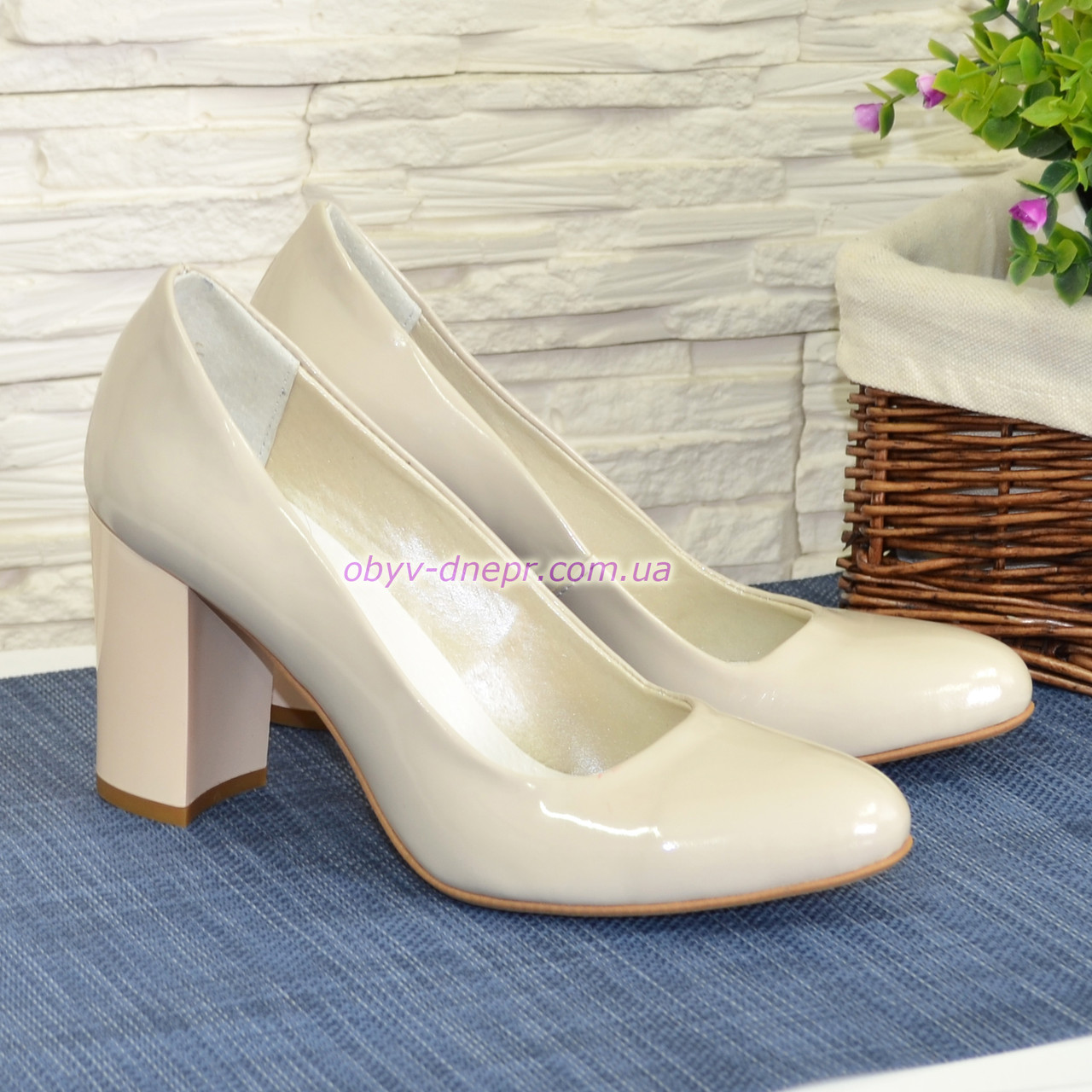 9d9a0c7fdcfe Женские лаковые классические туфли на каблуке. ТМ