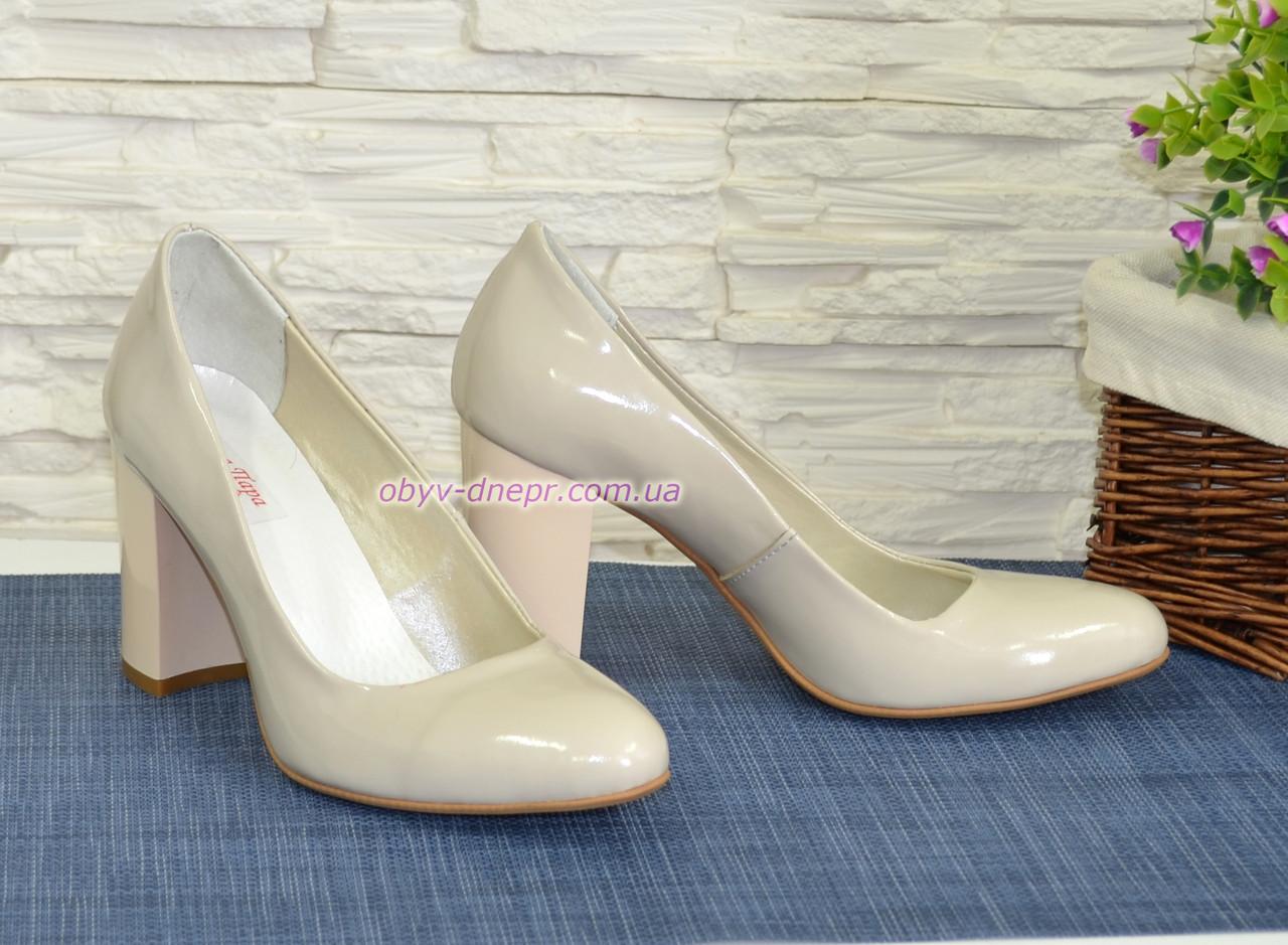 d5ce9184501a Женские лаковые классические туфли на каблуке. ТМ