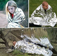 Спасательное термо одеяло пакет покрывало из фольги