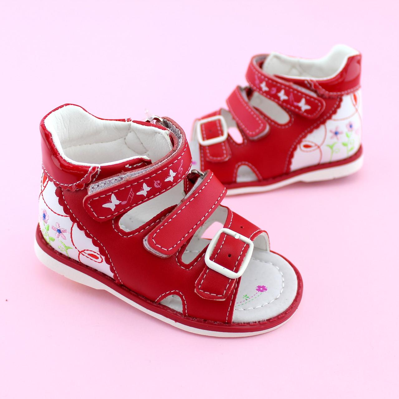 Босоножки ортопедические девочке Красные Том.м размер 17,21, фото 1