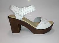 Женские кожаные босоножки на каблуке ТМ Inblu, фото 1