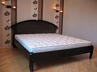 Деверянная кровать Чайка-овал с резьбой Делфис