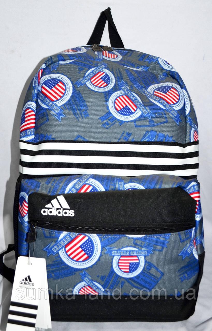 0c63eeea8334 Женский спортивный рюкзак Adidas с узором 30*45 см (черный с серым ...