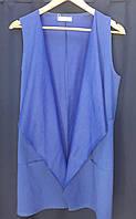 Стильный женский синий жилет коттон Турция размер L-46