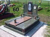 Подвійний пам'ятник комплекс на кладовище із граніту з іконою