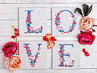 Живопись по номерам Квартет Слово LOVE Лофт CH103 Идейка 4 шт. по 18 х 18 см, фото 5