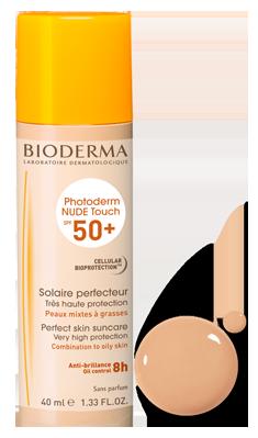Биодерма Фотодерм Нюд Тач натуральный SPF 50+ Bioderma Photoderm NUDE Touch SPF 50+ Natural tint Bioderma