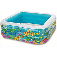 Дитячий надувний басейн Акваріум Intex 57471 (159 х 159 х 50 см)