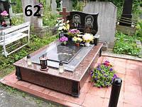 Подвійний пам'ятник для батьків закрита гробничка із граніту на могилу