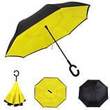 Зонт наоборот, зонт обратного сложения, ветрозащитный зонт Up-Brella, антизонт, фото 2