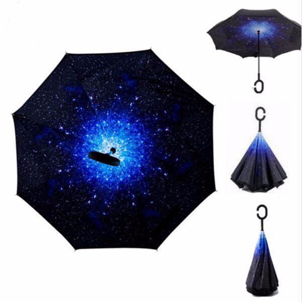Зонт наоборот обратного сложения up-brella космос