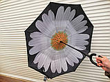 Умный зонт наоборот Цветок + подарок, фото 3