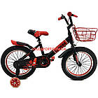 Детский велосипед Langda 16 дюймов черно-красный, фото 2