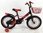 Детский велосипед Langda 16 дюймов черно-красный, фото 3