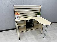 Стол маникюрный складной угловой с огромным стеллажом V392