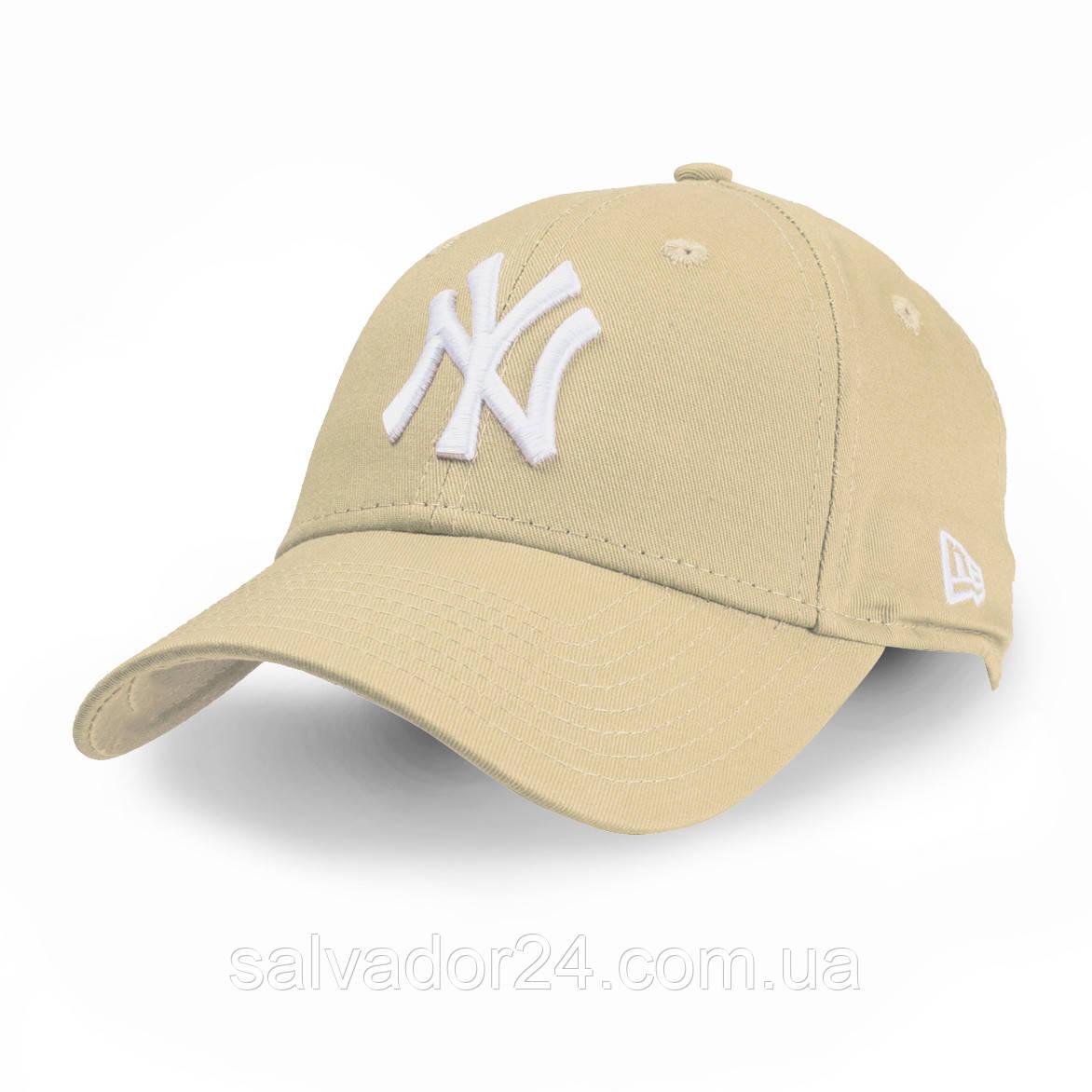 Бейсболка NY бежевая, кепка New York