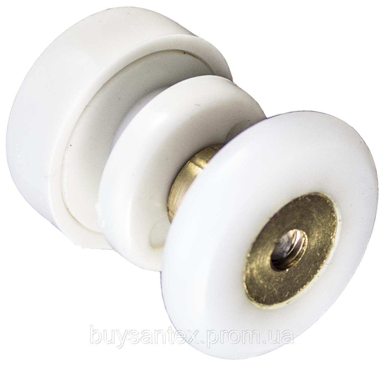Ролик для душевый кабин, гидробоксов (CKLB23A) одинарный , белый с диаметром колеса 26 мм.