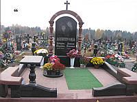 Ексклюзивний подвійний пам'ятник для двох, арка із граніту лізник.